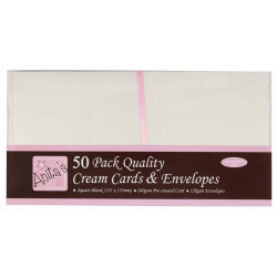 Square Cards & Envelopes Set - Anita's - Cream, 50 pcs