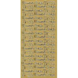 Stickersy, naklejki ażurowe - I Komunia Święta, złote