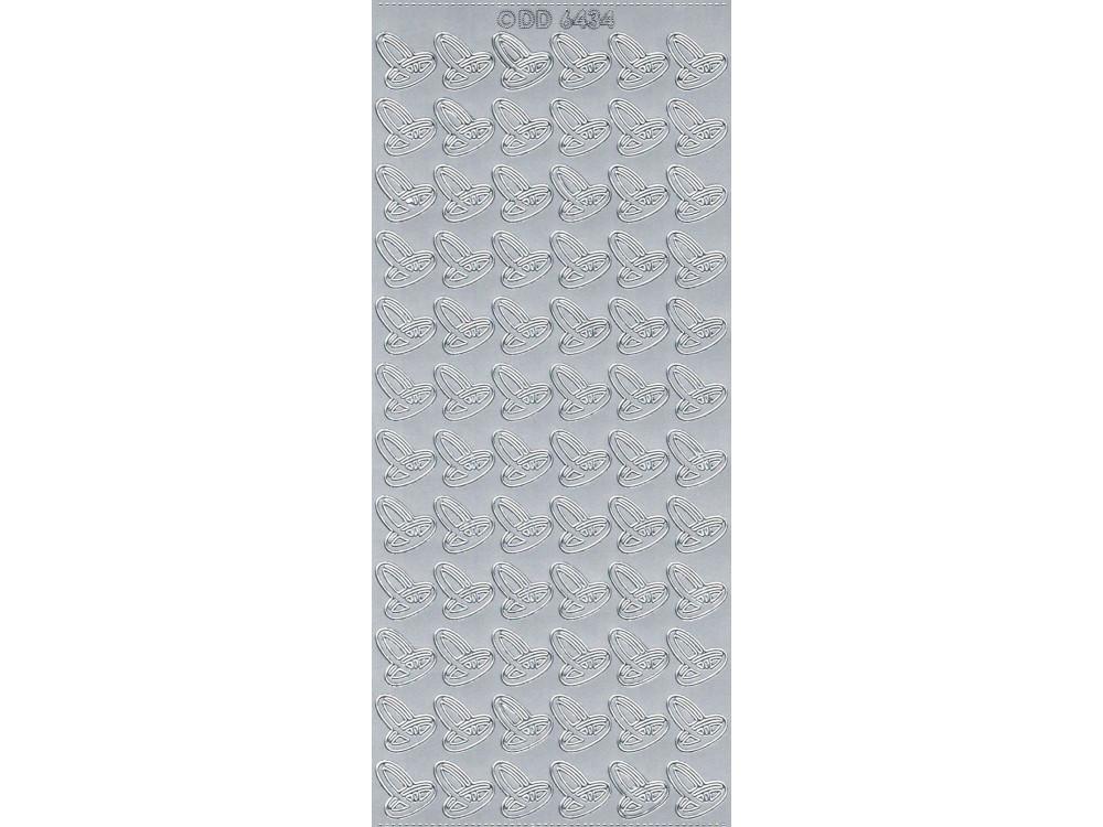 Stickersy, naklejki ażurowe - Obrączki, srebrne