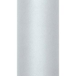 Tiul dekoracyjny 15 cm - szary, 9 m
