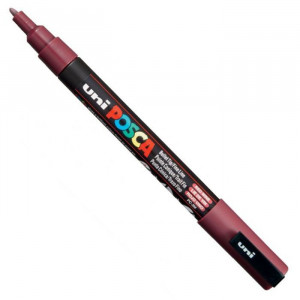 Marker UNI POSCA PC-3M - Red Wine