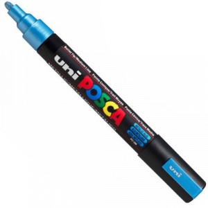 Marker UNI POSCA PC-5M - Metallic Blue