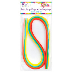 QUILLING STRIPS 6 MM - RAINBOW, 100 PCS