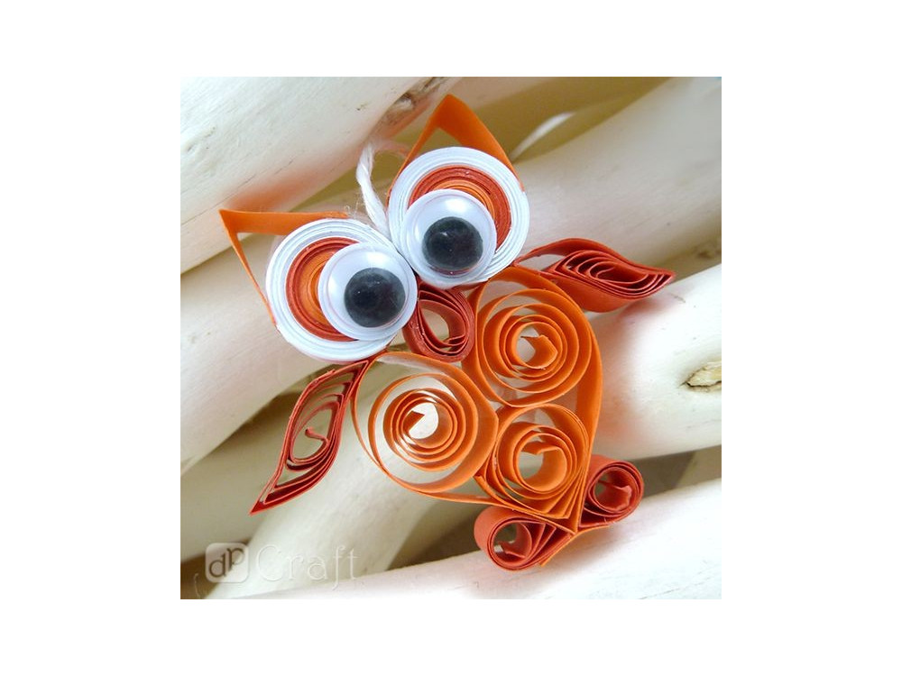 QUILLING STRIPS 6 MM - RED SHADES, 100 PCS
