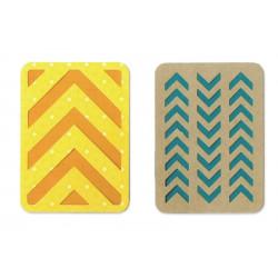 Zestaw wykrojników Thinlits - Sizzix - 3x4 Cards, 2 szt.