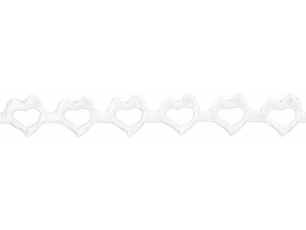 Decorative Applications - Hearts 14 mm, 9 m WHITE
