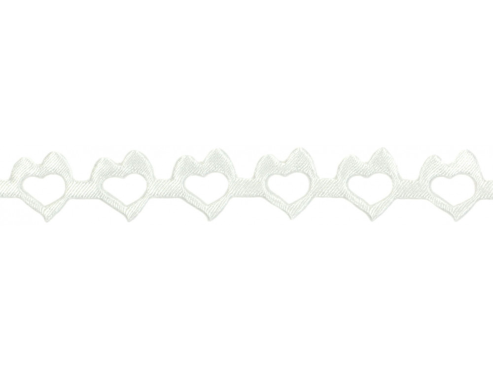 Decorative Applications - Hearts 14 mm, 9 m CREAM