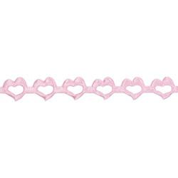 Aplikacje ozdobne Serca - różowe, 14 mm x 9 m