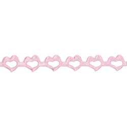 Decorative Applications - Hearts 14 mm, 9 m PINK