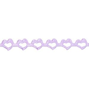 Wstążka w serca 14 mm, 9 m fioletowa