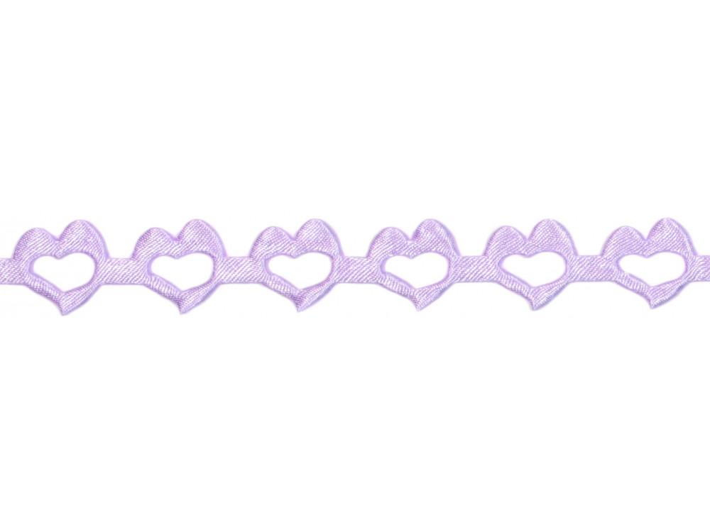 Decorative Applications - Hearts 14 mm, 9 m VIOLET