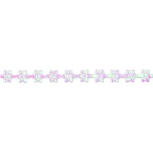 Wstążka w kwiatki 7 mm, 9 m holograficzna