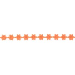 Aplikacje ozdobne Kwiatki - pomarańczowe, 7 mm x 9 m