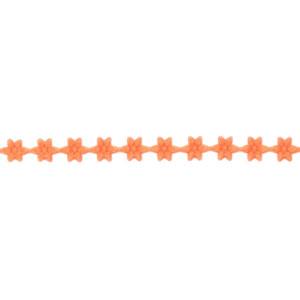 Wstążka w kwiatki 7 mm, 9 m pomarańczowa