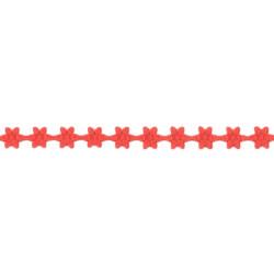 Aplikacje ozdobne Kwiatki - czerwone, 7 mm x 9 m