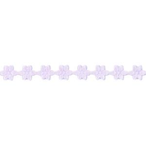 Wstążka w kwiatki 11 mm, 9 m fioletowa