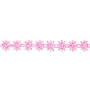Wstążka w kwiatki 12 mm, 9 m różowa