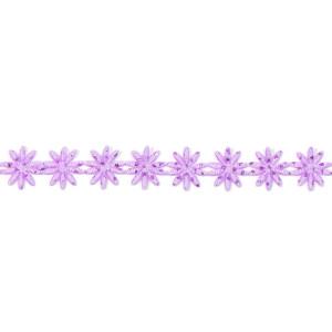 Wstążka w kwiatki 12 mm, 9 m fioletowa