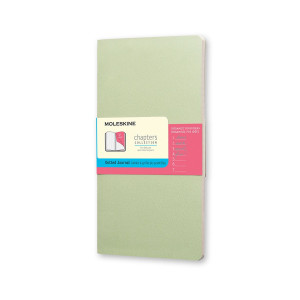 Notes Moleskine Chapters Slim L Mist Green