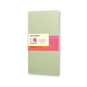 Notes Moleskine Chapters Slim L Ruled Mist Green