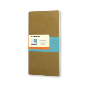 Notes Moleskine Chapters Slim L Ruled Tawny Olive