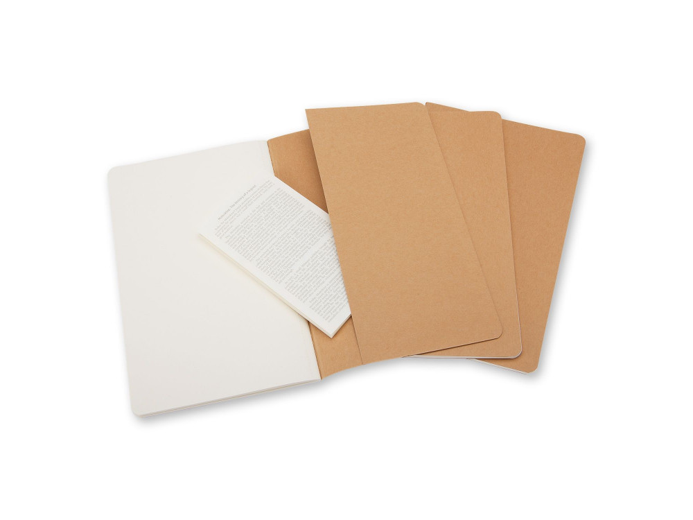Zestaw 3 Notatników Moleskine - Plain Kraft Brown L