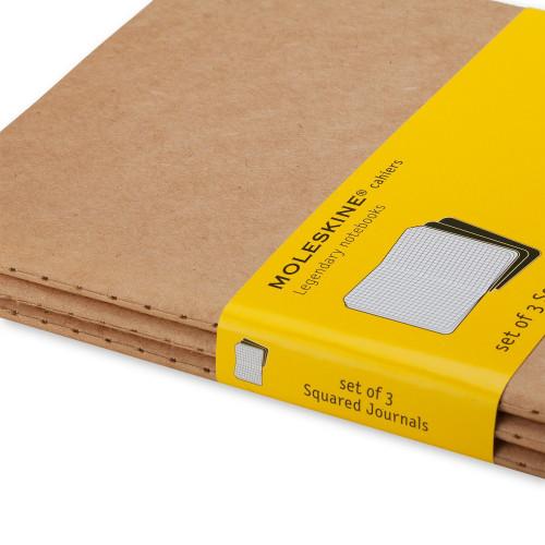 Zestaw 3 Notatników Moleskine - Squared Kraft Brown Large