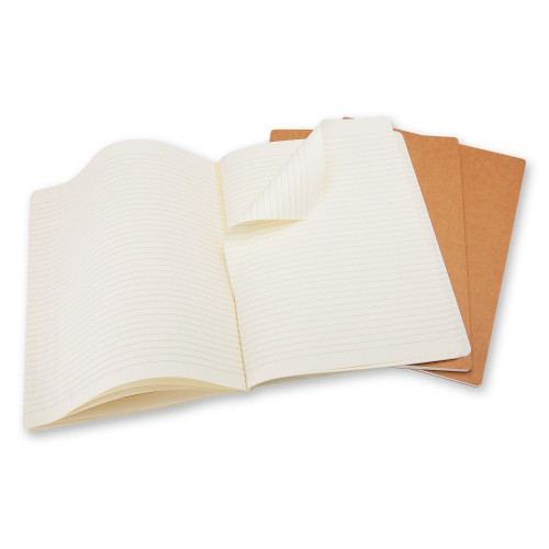 Zestaw 3 Notatników Moleskine - Ruled Kraft Brown Large