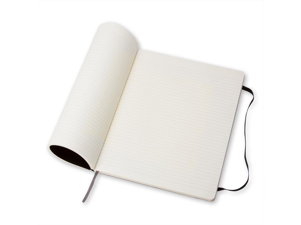 Notatnik w linie XL - Moleskine - czarny, miękka okładka