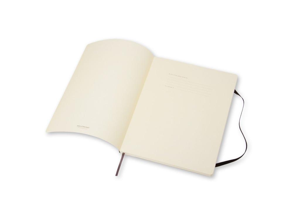 Notatnik gładki XL - Moleskine - czarny, miękka okładka