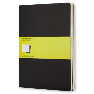 Zestaw 3 notatników Moleskine - Plain Black XL