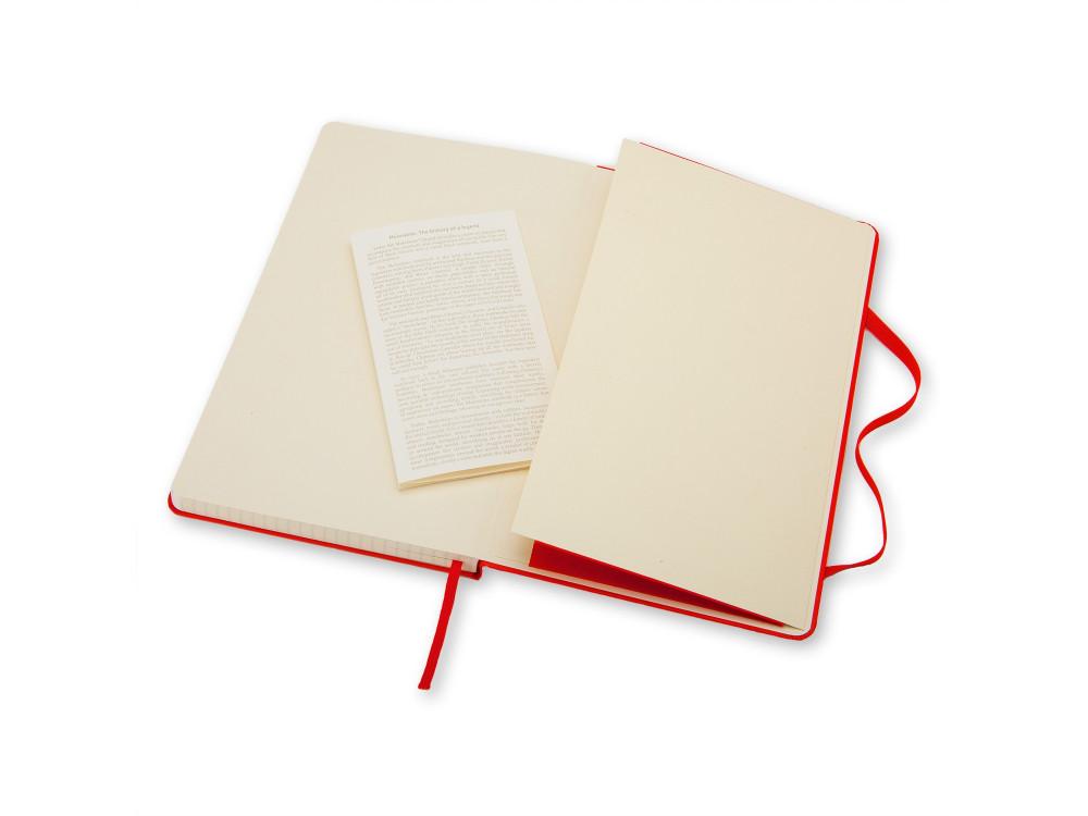 Notatnik w kratkę A6 - Moleskine - czerwony, twarda okładka
