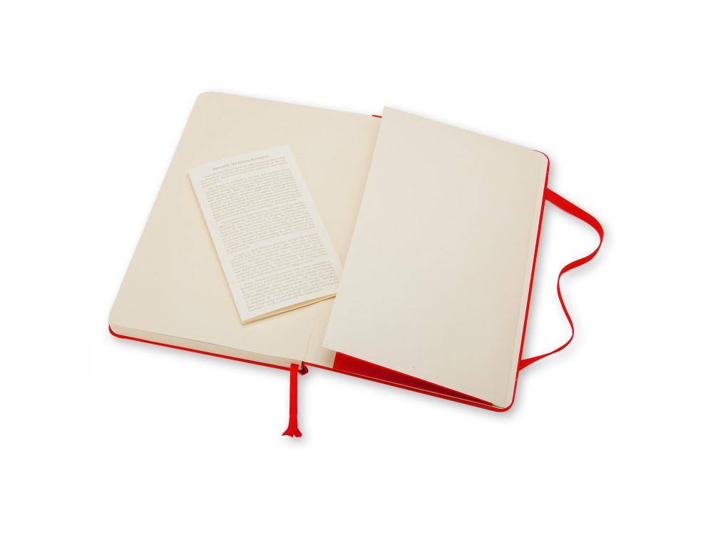 Notatnik w linie A6 - Moleskine - czerwony, twarda okładka