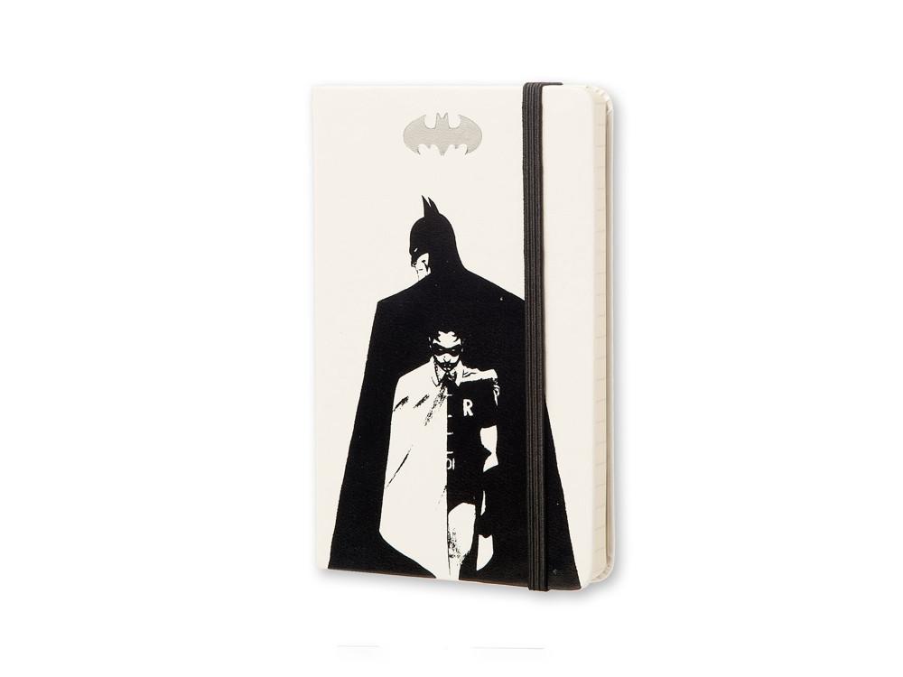 Notatnik w linie A6 - Moleskine - Batman, biały