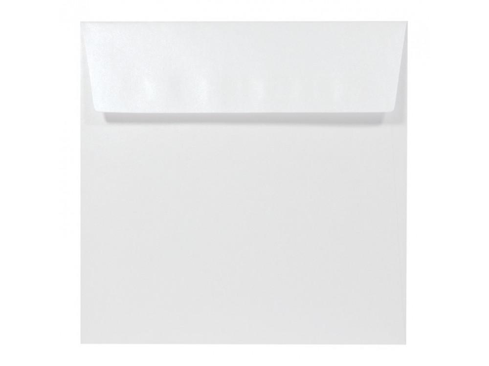 Koperta perłowa Sirio Pearl 125g - 17 x 17 cm, Ice White, śnieżnobiała