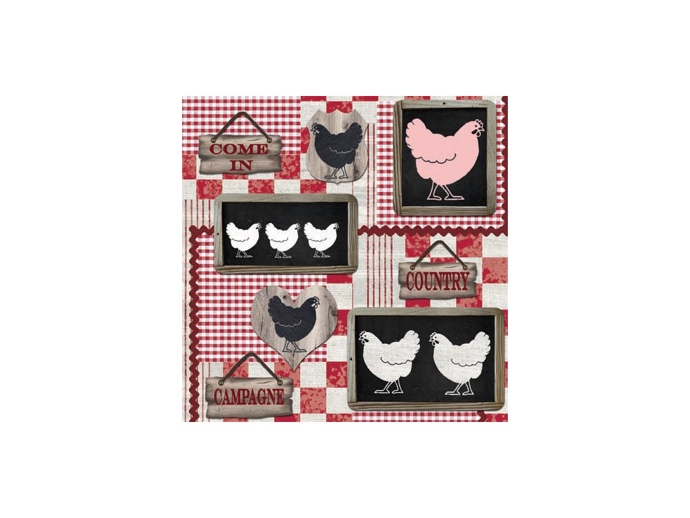 Decorative Napkins CHICKEN IN THE KITCHEN 20 pcs SDL078700