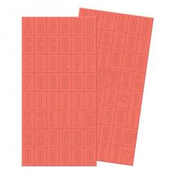 Naklejki plastikowe - We R - alfabet, 192 szt.