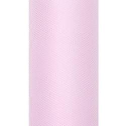 Tiul dekoracyjny 30 cm - jasnoróżowy, 9 m