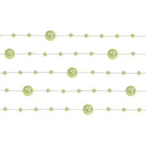 Girlanda perłowa 1,3 m 5 szt. jasny zielony