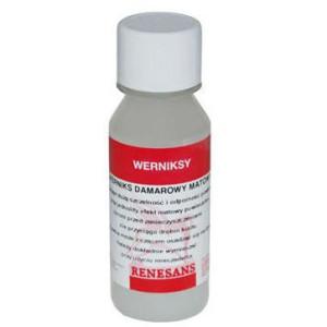 Werniks damarowy matowy 100 ml Renesans