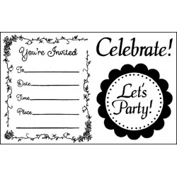 Stempel akrylowy 7 x 11 cm -  Stamperia - Let's Party
