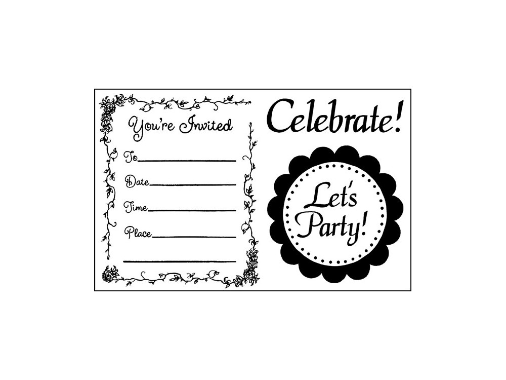 Acrylic Stamp Stamperia - Let's Party