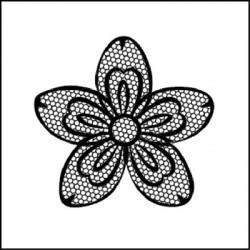 Acrylic Stamp Flower - Stamperia - 10x10 cm