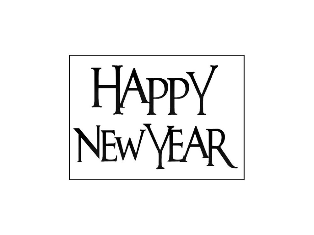 Stempel akrylowy 5 x 7 cm - Stamperia - Happy New Year
