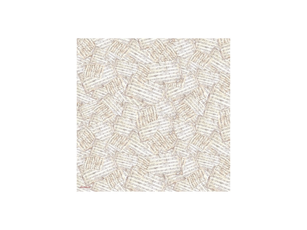 Rice Paper Napkin Stamperia - Music Sheets