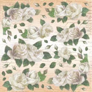 Serwetka ryżowa STAMPERIA białe róże