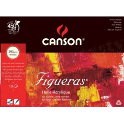 Painting paper pad for oil and acrylic Figureas 33 x 41 cm - Canson - 290 g, 10 sheets