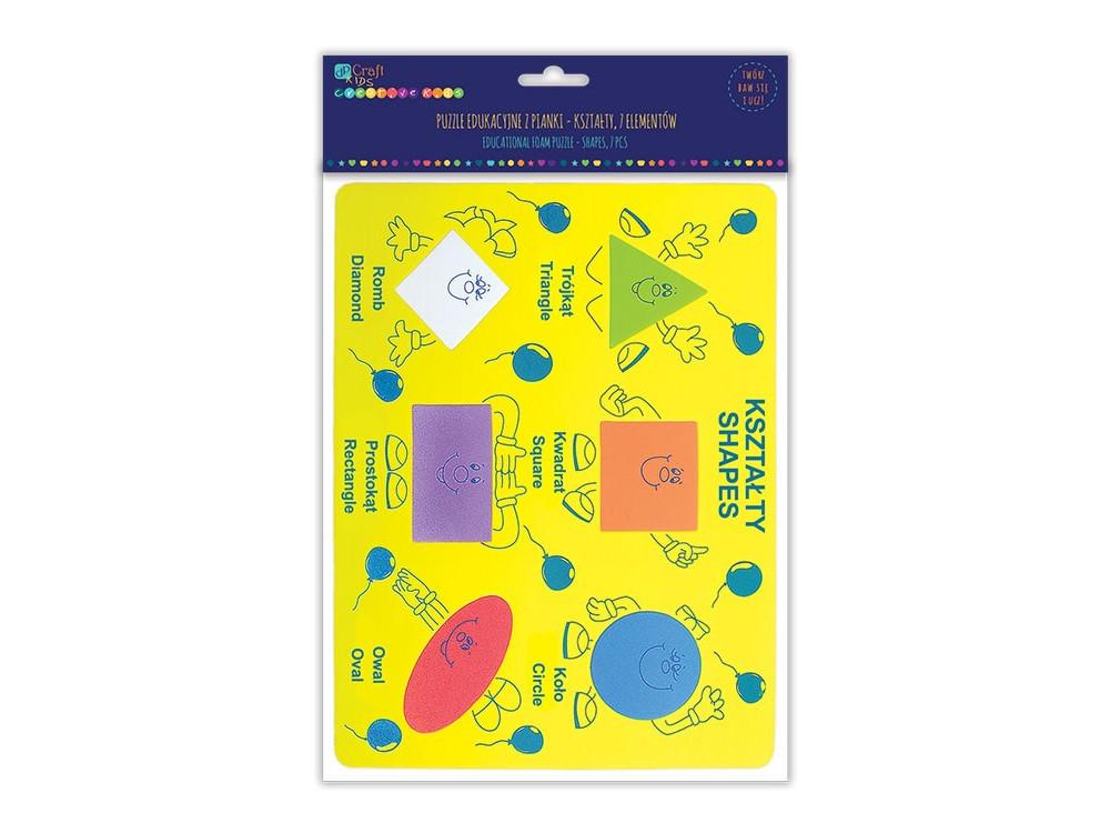 EDUCATIONAL FOAM PUZZLE - SHAPES, 7 PCS