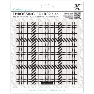 FOLDER DO EMBOSSINGU 15,2 X 15,2 CM - TARTAN