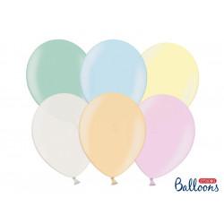 Strong balloons - pastel, 27 cm, 100 pcs.